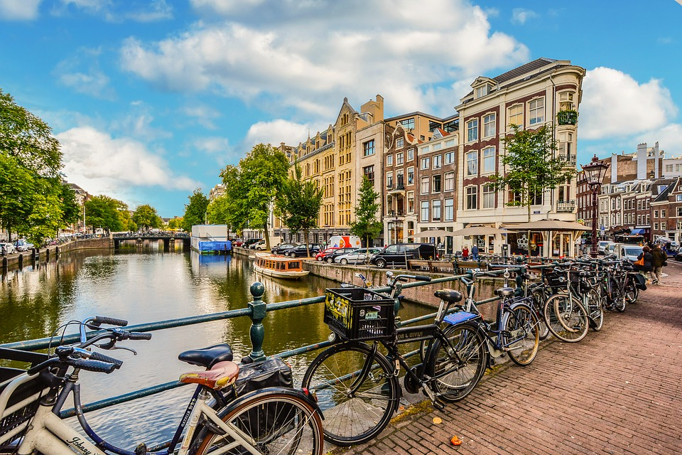 Amsterdam, City, Holland, Bicycles, Bike, Bicycle