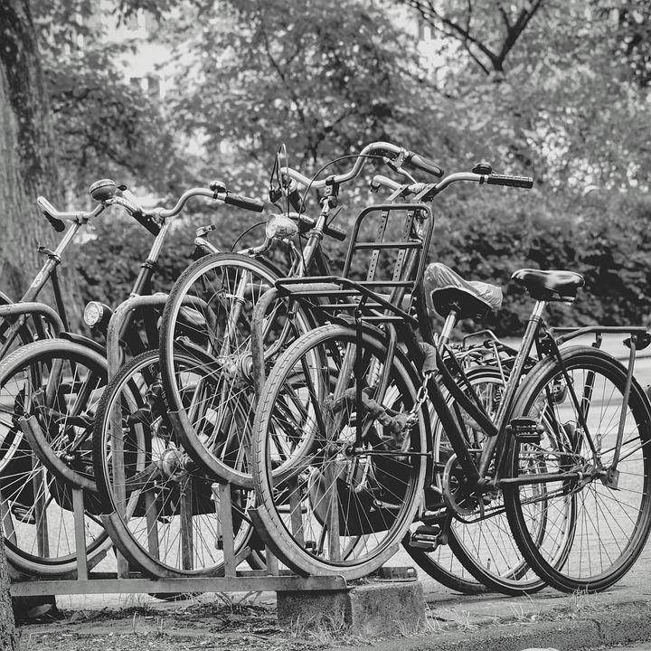 Amsterdam, Bicycles, Black And White, Netherlands, Bike