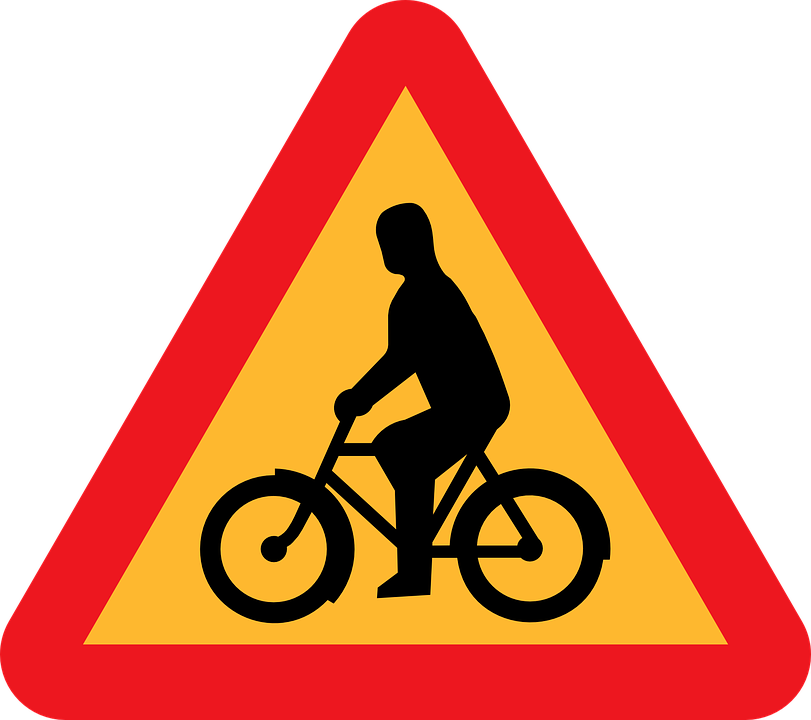 Caution Bicyclist, Bicycle Crossing, Bike Crossing