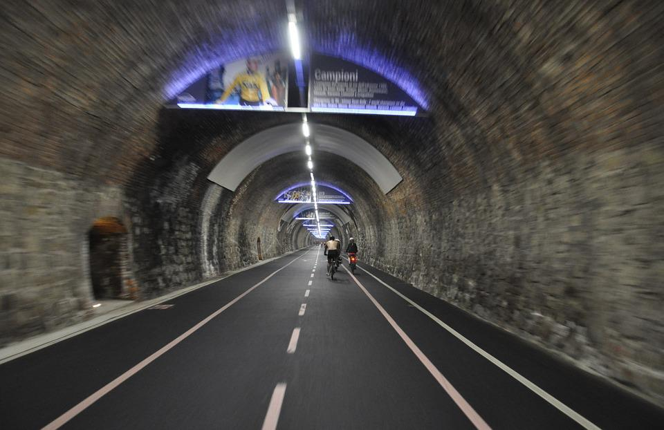 Gallery, Cycle Track, Bike, Walk, Road, Tunnel, Tourism