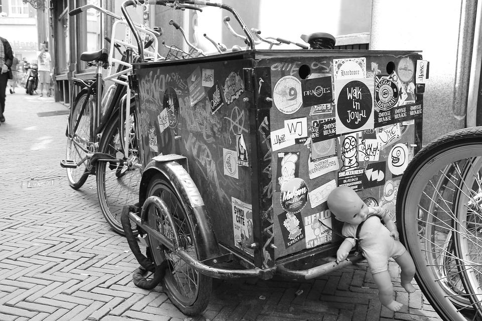 Bike, Bike Trailer, Trailers, Doll, Amsterdam, Holland