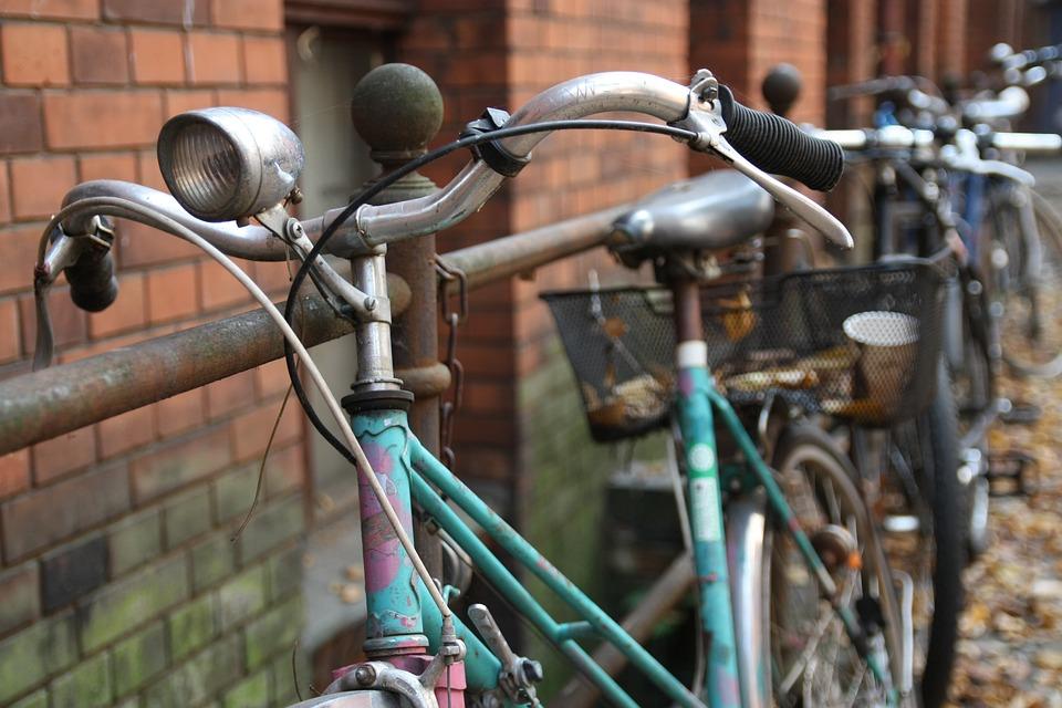 Old, Bicycle, Vintage, Building, Berlin, Bike, Retro