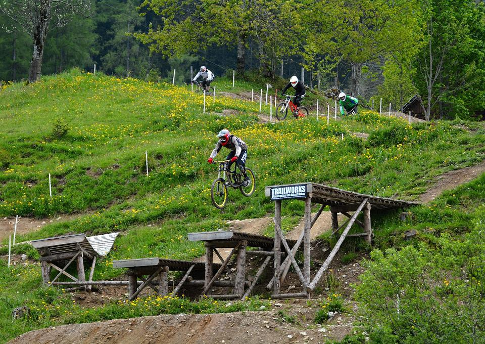 Motocross, Bike Path, Bike, Bike Park, Hill, Obstacles