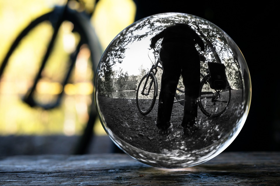Cyclists, Glass Ball, Photo Sphere, Bike, Globe Image