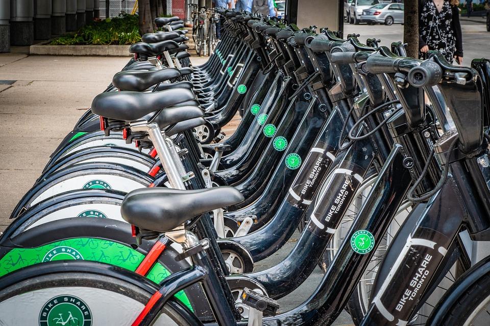 Bicycles, City Bikes, Bike Share, Toronto, Canada, City