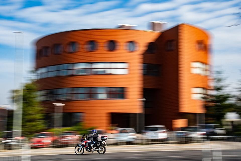 Speed, Motion, City, Urban, Motorcycle, Bike, Fast