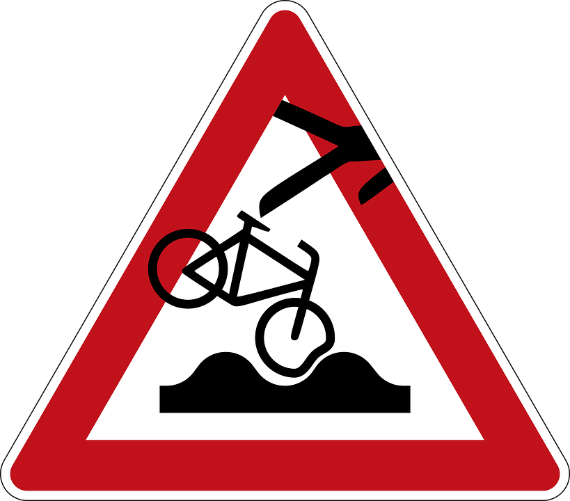 Road Sign, Street Sign, Street Art, Fall, Bike