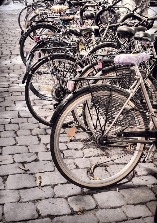 Wheel, Old, Bike, Street, Transportation System