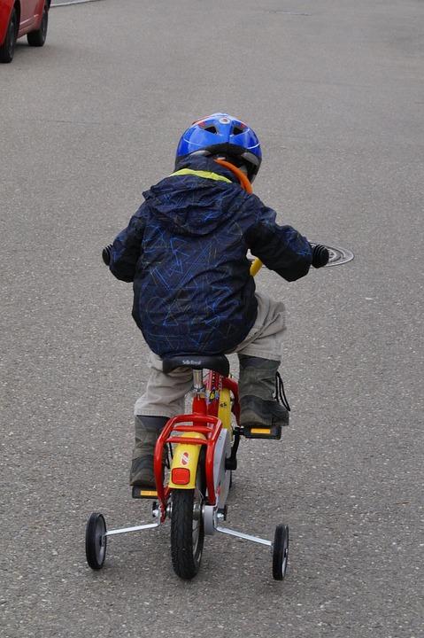 Bike, Cycling, Child, Training Wheels, Wheel, Cycle