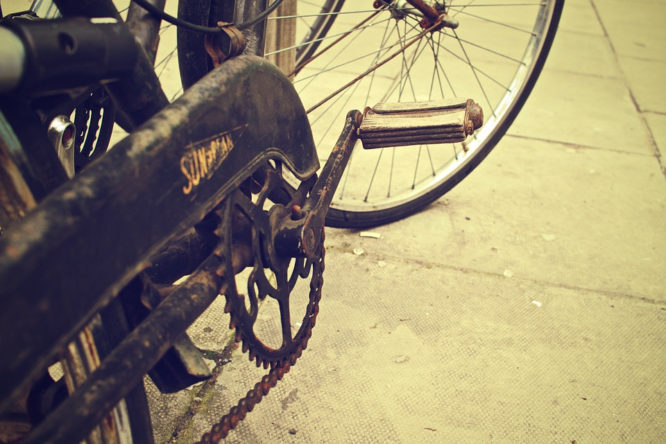 Bike, Bicycle, Chain, Vintage, Oldschool