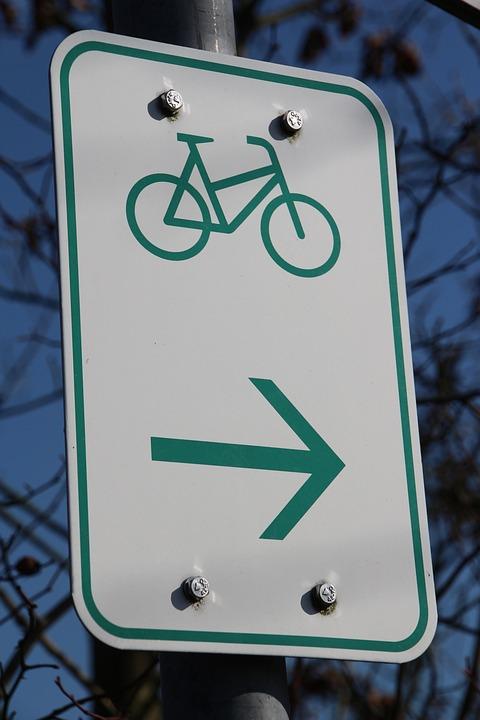 Shield, Bike, Wheel, Arrow, Drive, Billboard, Cyclists