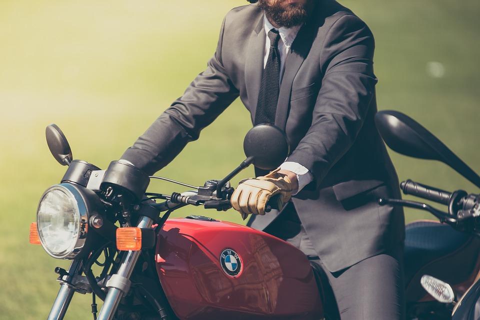 Adult, Beard, Bike, Biker, Blur, Bmw, Close-up