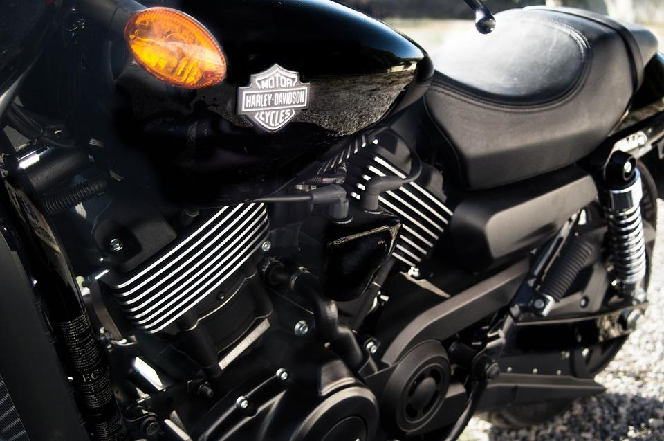 Moto, Harley, Davidson, Biker