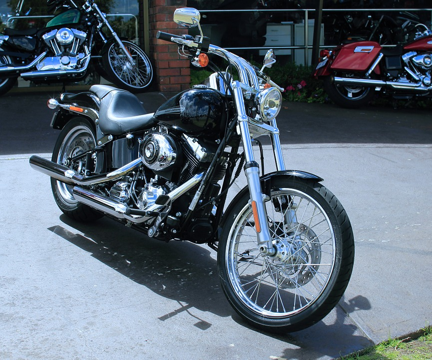 Motorbike, Harley, Display Room, Hog, Bikes, Road Bike
