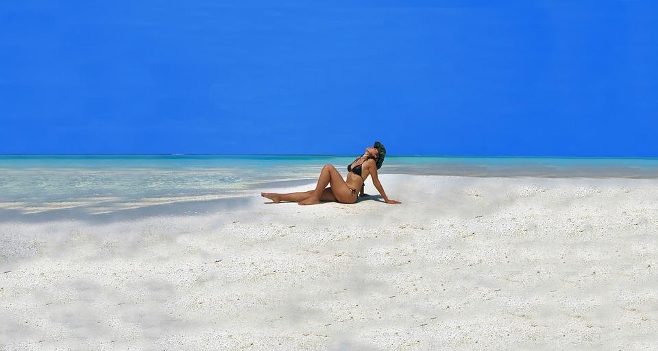 Model, Maldives, Beach, Sexy, Girl, Glamour, Bikini