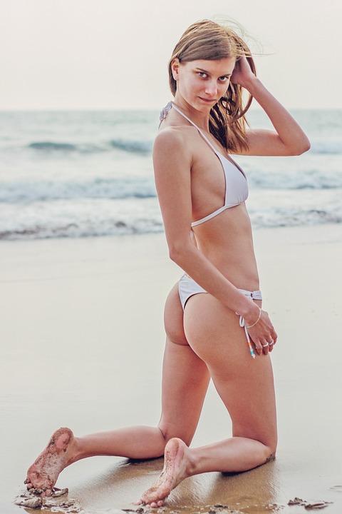 Bikini, Young Woman, Holiday, Summer, Woman, Beach