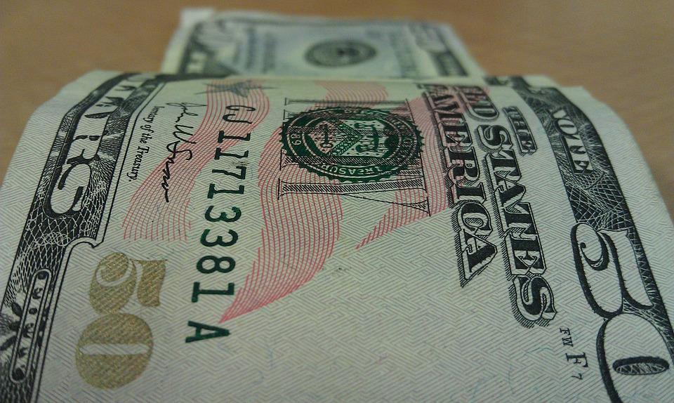 Money, Currency, 50, Dollars, Bill, Finance, Wealth