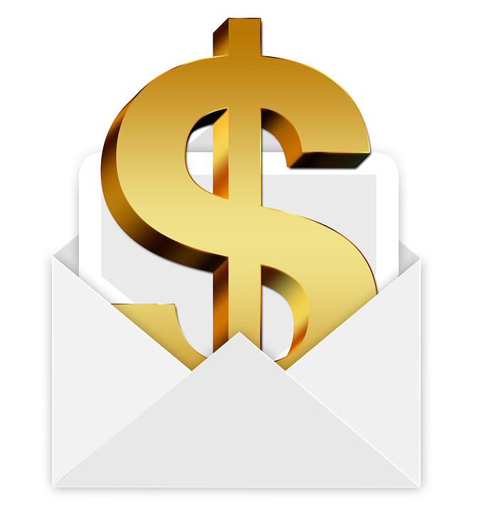 envelope money dollar bill gift christmas e mail