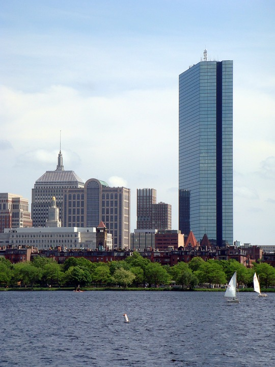 River, Sky, Bill, Boston, Charles River