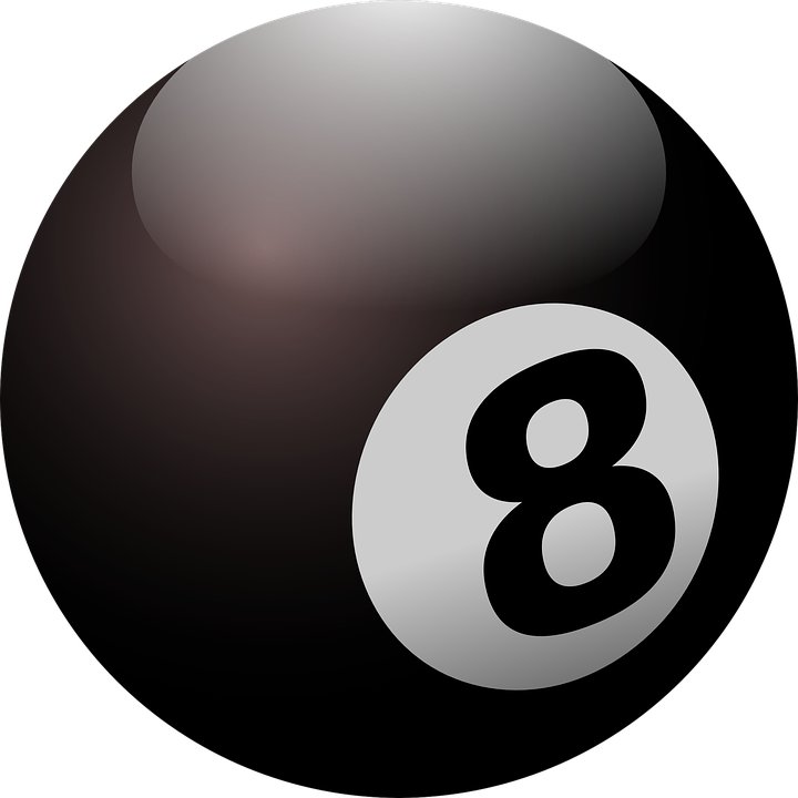 Billiard, Ball, Black Ball, Eight, Round, Black