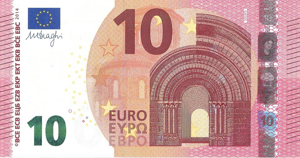 Euro, 10, Money, Banknote, Bills, Rich, Wealth, Italy