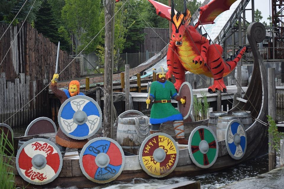 Lego, Legoland, Denmark, Billund, Viking Ship