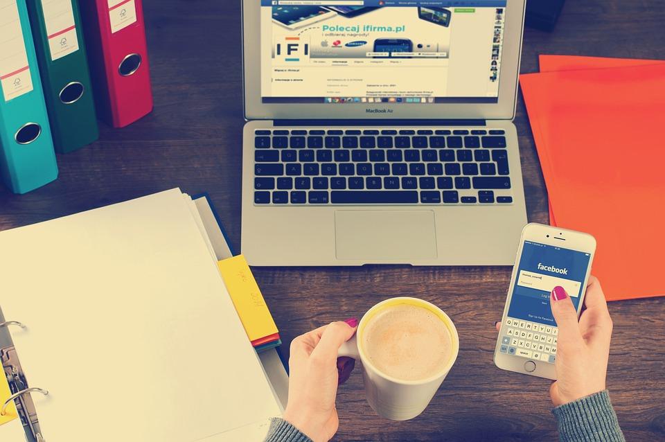 Laptop, Iphone, Workspace, Hands, Coffee, Binders