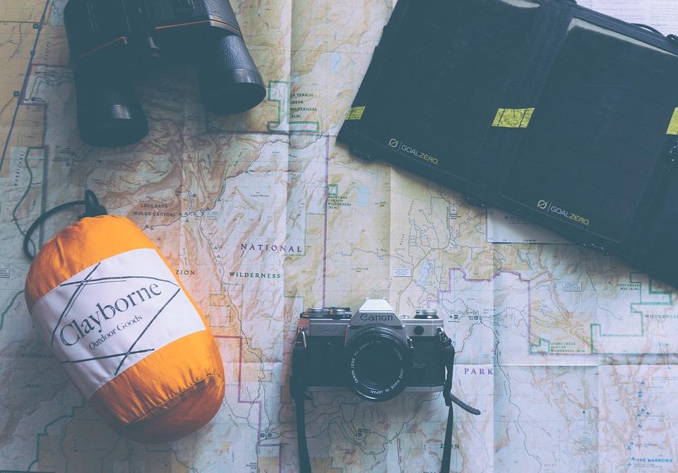 Adventure, Binoculars, Camera, Canon