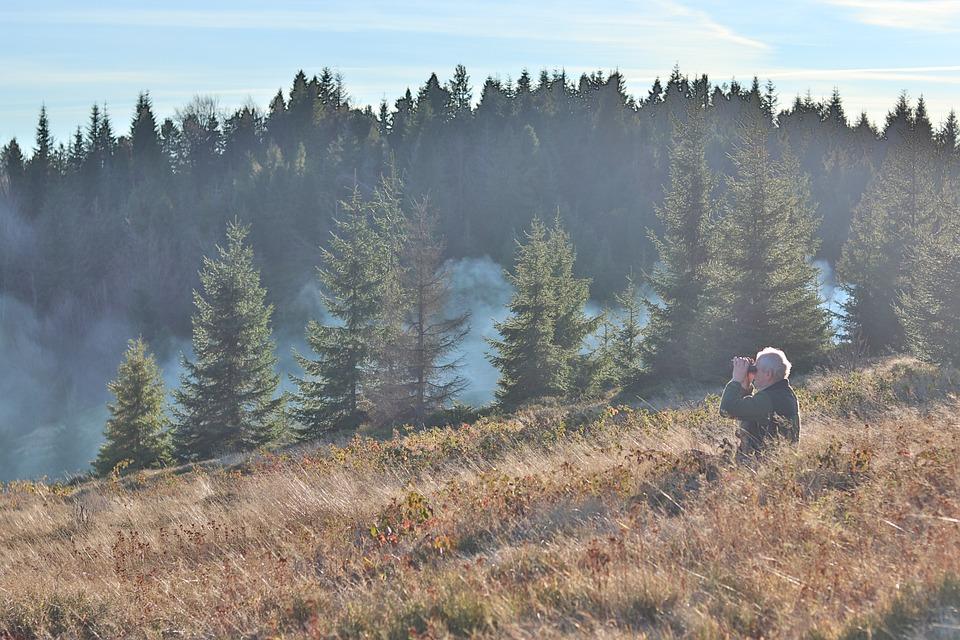 Male, Mountains, Binoculars, Island Beskids, Mogielica