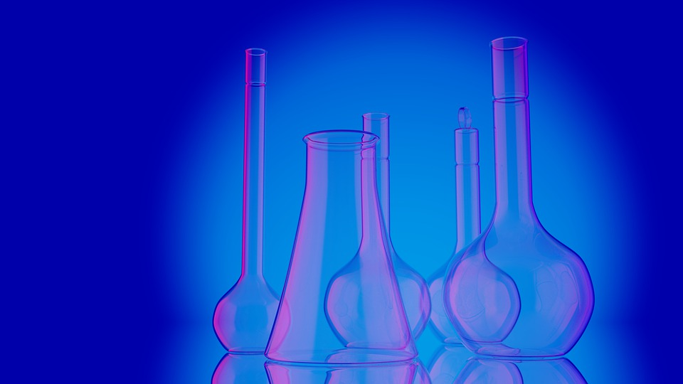 Scientific Researches, Biological Tests, Glassware, Lab