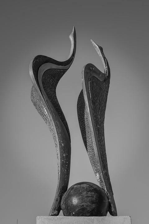 Herons, Sculpture, Art, Statue, Bird, Figure, Design