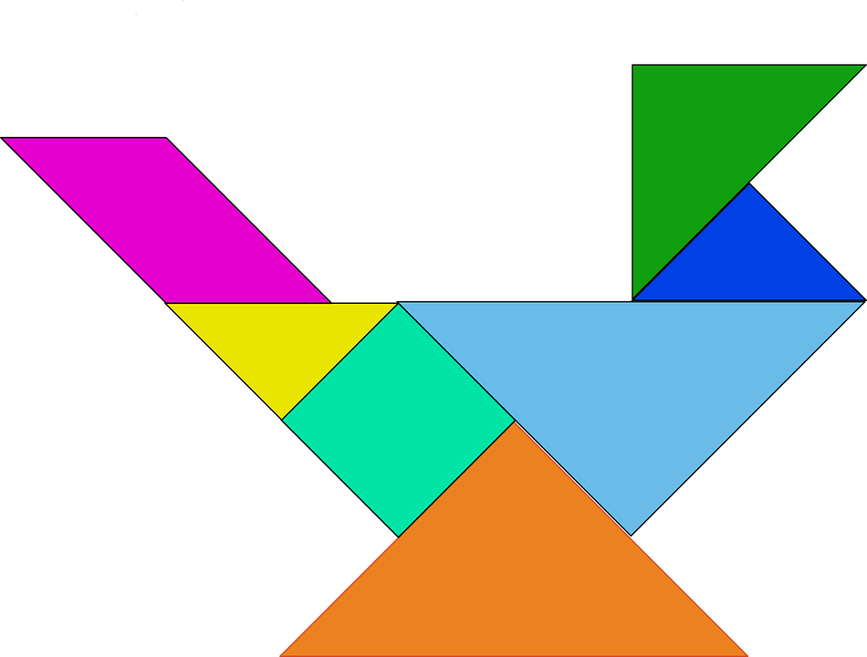 Shapes, Bird, Puzzle, Chinese, Tangram, Geometric, Game
