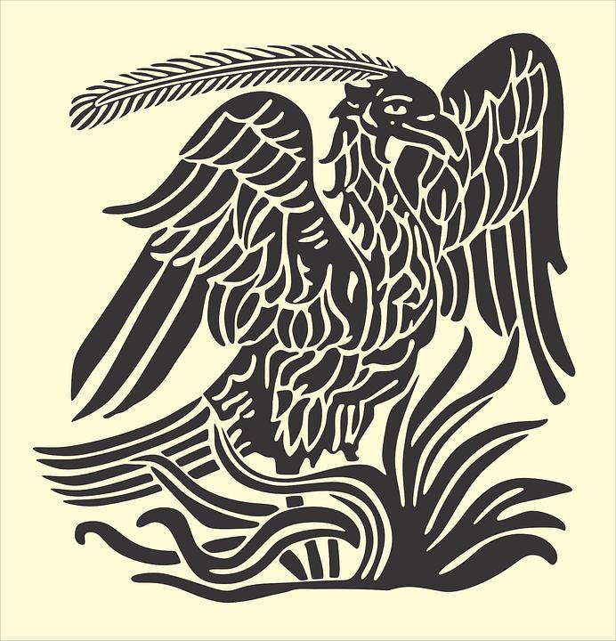 Bird, Phoenix, Animal, Creature, Mythical, Gray Birds