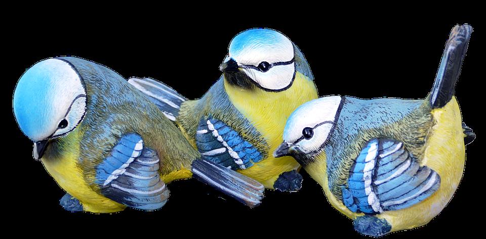 Blue Tits, Decoration, Birds