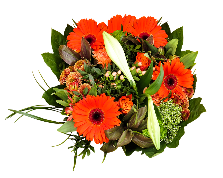 Birthday Bouquet, Bouquet, Png, Isolated, Flowers