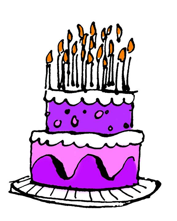 Birthday Cake, Cake In Pink