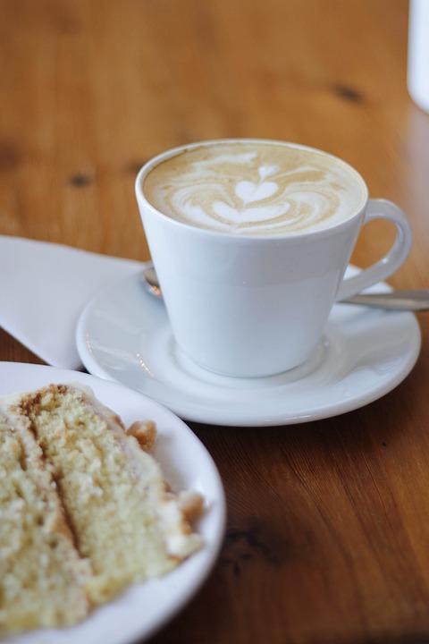 Coffee, Cake, Food, Sweet, Bake, Birthday, Pastries