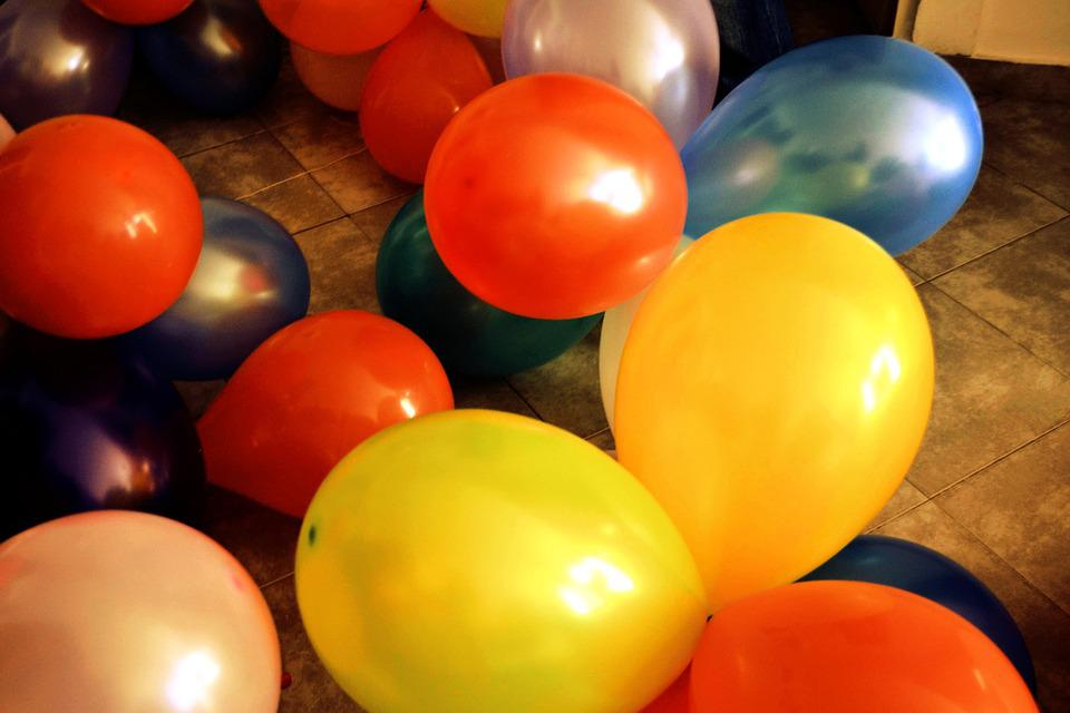 Balloons, Colors, Birthday, Party