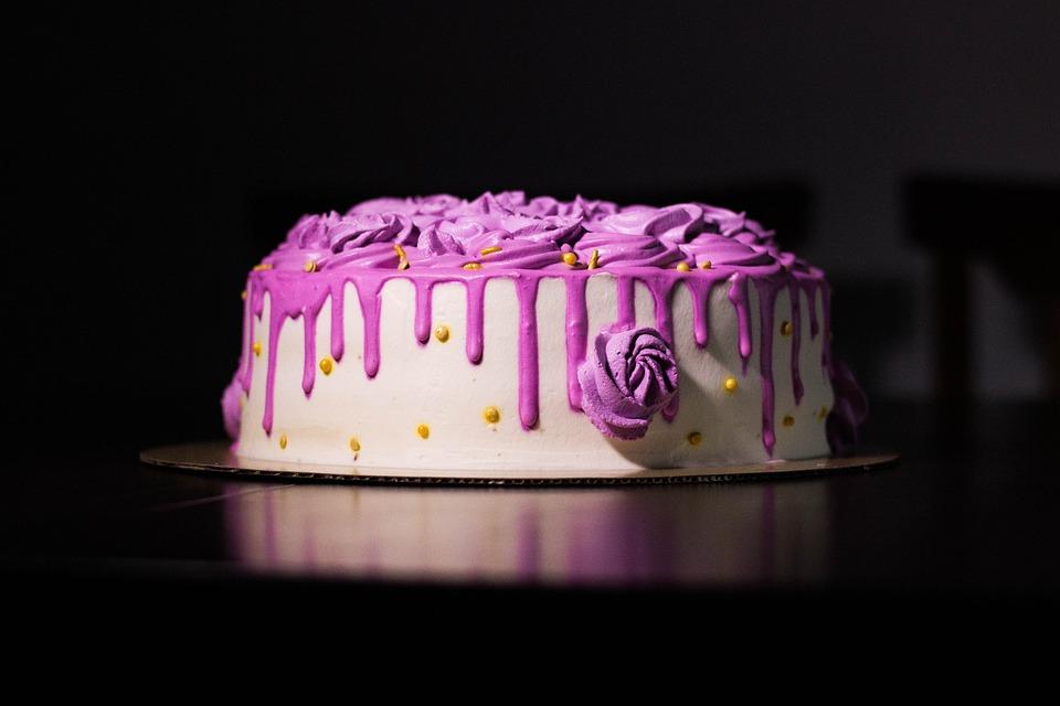 Cake, Birthday, Pastry, Dessert, Baked, Food, Snack