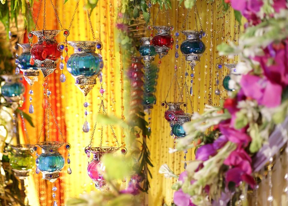 Flowers, Lamps, Gems, Luxury, Birthday, Welcome