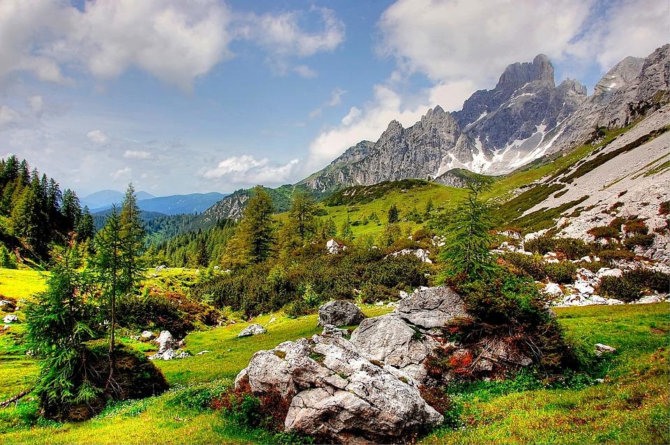 Bischofsmütze, Mountains, Nature, Landscape, Panorama