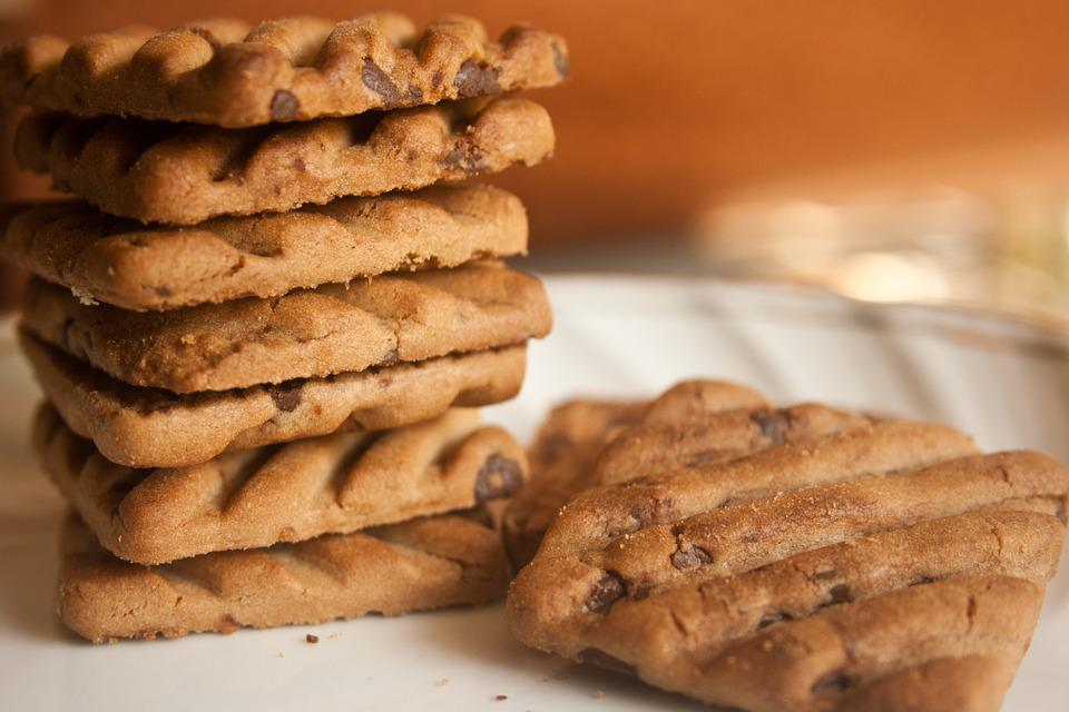 Biscuits, Chocolate Chips, Cookies, Baked, Food