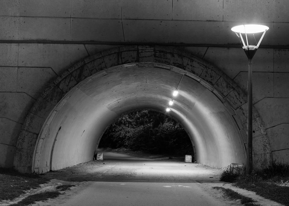 Atmosphere, Black And White, Curves, Heavy, Tunnel