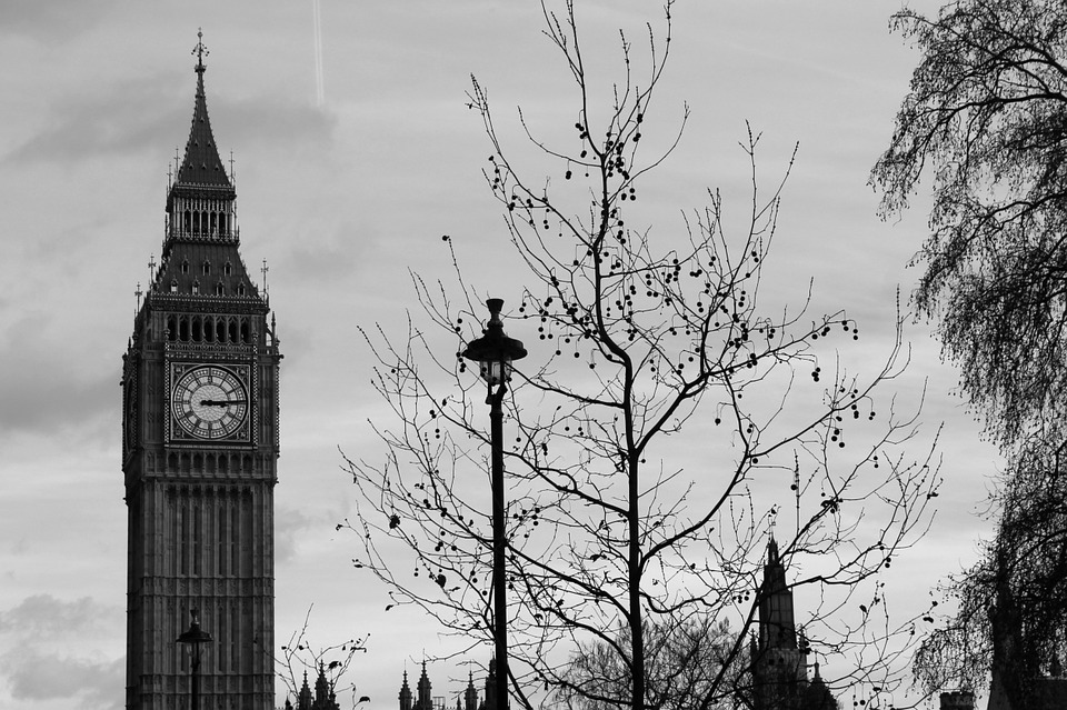 London, Big Bend, Black And White