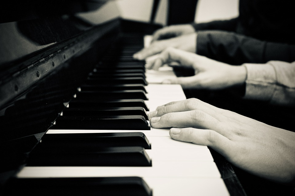 Piano, Music, Black And White, Hands, Concert, Boys