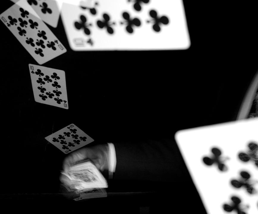 Cardistry, Strobe, Cards, Black And White