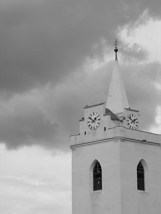 Church, Black And White, B W Photography, Tower