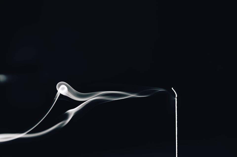 White Smoke, Flash, Black And White, Contrast