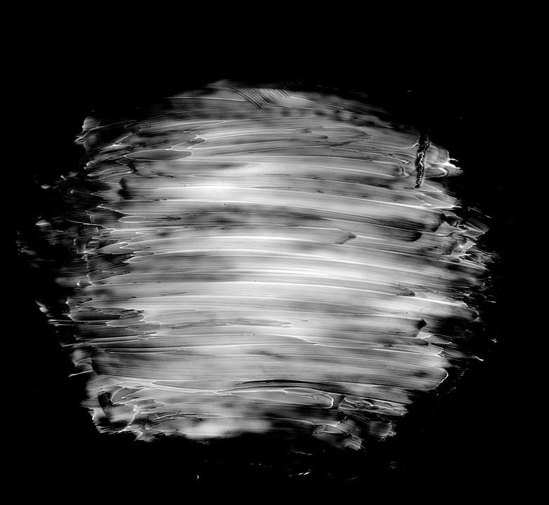 Monochrome, Black And White, Dark, Splash, Paint