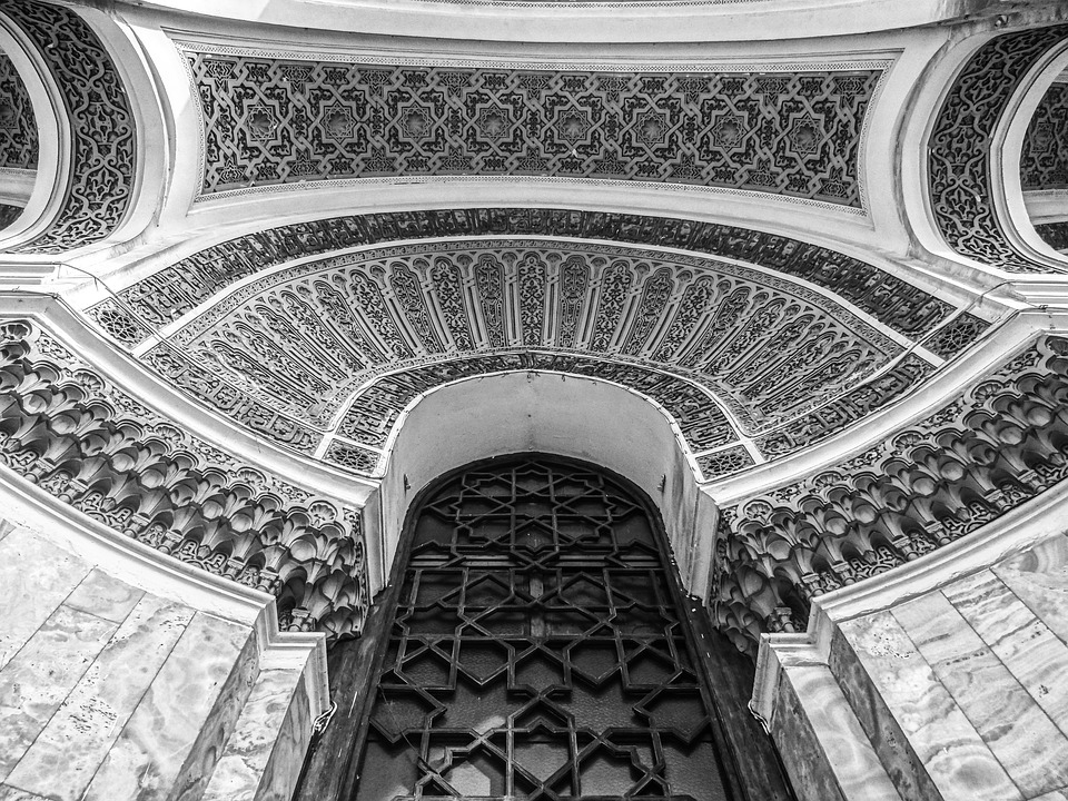 Architecture, Great Post, Black And White, Door